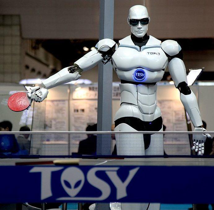 Robot playing ping pong