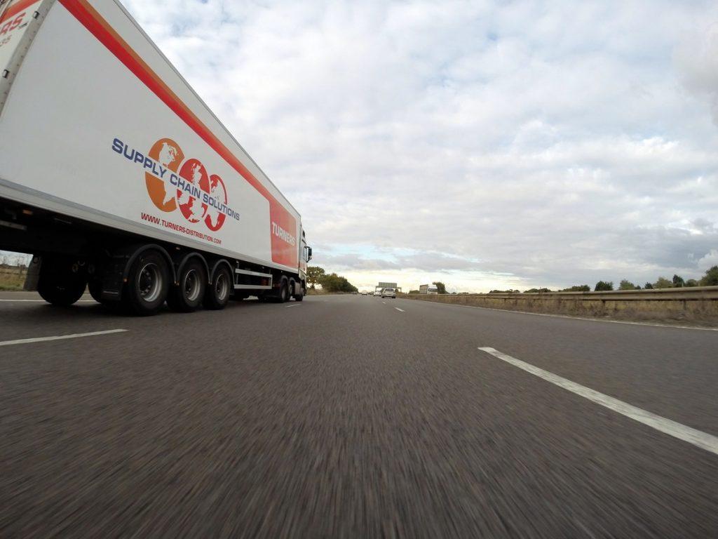 Motorway lorry