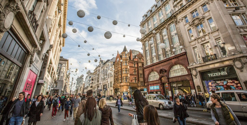 Regent Street and Oxford Street