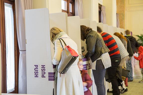 Australian voting booths