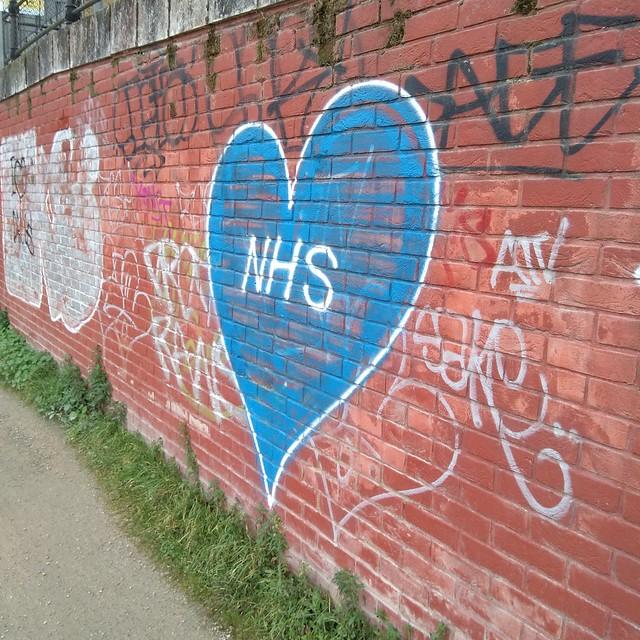 NHS graffiti